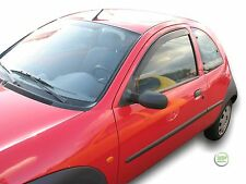 FORD KA 3-DOOR 1997-2009 SET OF FRONT WIND DEFLECTORS  2pc HEKO TINTED