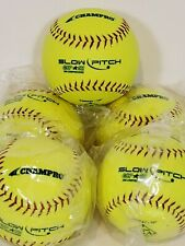 """Champro Lot Of 5 Slow Pitch Gps 52 Durahide 12"""" 300 Compression Asa"""