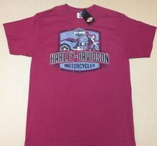 "Harley-Davidson Men's Medium Dark Cranberry Red ""Punch out"" shirt trike"