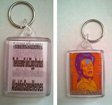 David Bowie Acrylic Keyring Passport image  size 45mm x 35mm