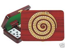 Continuous Cribbage Board Spiral Shape 2 Tracks Bloodwood / Maple