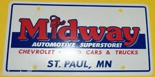 Midway Auto Superstore - St Paul MN Dealer Plastic New Car License Plate #2 SEE!