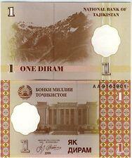 TADJIKISTAN Billet neuf de 1 DIRAM Pick10 OPERA MONTAGNE DU PAMIR  1999