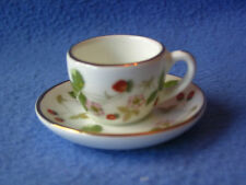 WEDGWOOD Wild Strawberry Miniature Tasse et soucoupe