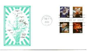 3487-90  34c Flower dbl-sided bklt, Artmaster FDC