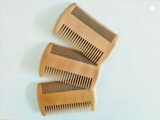 100pcs/lot Peach Wood Two Sides Tooth Beard Care Combs Wooden Comb Custom LOGO