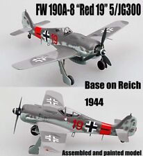 Easy model WWII German Fw190 A-8 5/JG300 Reich Red 19 1944 1/72 no diecast plane
