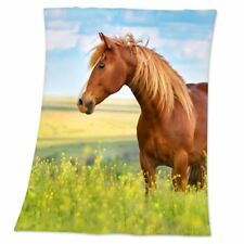 HORSE SOFT FLEECE BLANKET CHILDRENS LARGE 130cm x 160cm