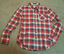 TheLees Mens Casual Long Sleeve Stripe Patch Checker Shirt, Sz. MD.