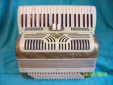 Salanti Special 120 bass Accordion 2/4 reeds Gold /Creme Accordian Italy OK cond