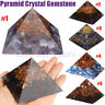Extra Large 70-75mm Gemstone Pyramid Crystal Tower Tourmaline Orgonite  HH