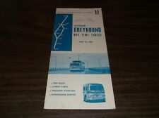 JUNE 1964 EASTERN GREYHOUND BUS SCHEDULE