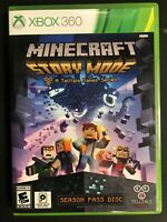 Minecraft Story Mode Season Pass Disc Telltale New SEE PHOTOS Xbox 360 Complete