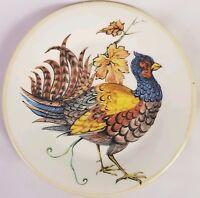 "2 Sur La Table Pheasant Salad Plates Game Bird 8 1/2"" Luncheon"