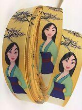 "BTY 1"" Disney Princess Mulan Grosgrain Ribbon Hair Bows Lisa"