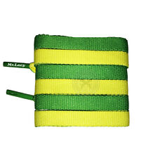 Mr Lacy Clubbies - Kelly Green & Yellow Two Tone Shoelaces - 130cm Length