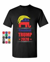 President Trump 2020 T-Shirt Funny GOP Elephant with Trump Hair Mens Tee Shirt
