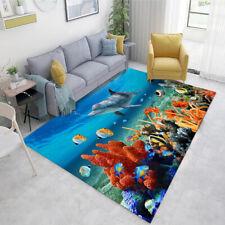Underwater World Area Rug Carpet 3D Print Anti-Skid Rug Living Room Floor Mats