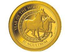 50 Ngultrum Lunar Pferd Horse Bhutan Gold PP 2014