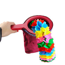 1pc Magic Change Bag Twisting Handle Make Things Appear Disappear Magic Trick r0
