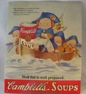 Campbell Kids Campbell's Soup Metal Nostalgic Ad Sign LE Crossing Washington Del