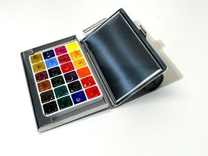 Sennelier Professional Watercolor Sample Set Of 24 Colors in Travel Metal Tin