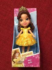 Disney Princess Doll Mini Belle Posable Figure Sparkle Collection Toy