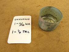 Vintage Phonograph Steel Needle Storage Can Bowl No Lid 1-11/16 dia x 1-1/4 Tall