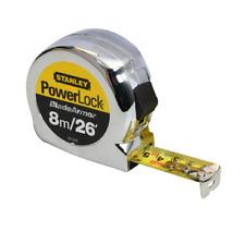 Stanley 0-33-526 PowerLock BladeArmor Pocket Tape Measure 8m / 26ft (Width 25mm)