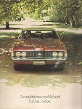 Ford Fairlane ZF 1972-73 UK & Australian Market Sales Brochure 500 Custom Sedan