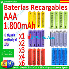 Pilas AAA Recargables★1800 mAh★1,2 voltios★Rechargeable Batteries x1 x2 x3 x4 x6