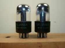 Sylvania 3 hole plate 6SN7GT identical code vacuum tubes matched and guaranteed