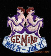 GEMINI MAY 21 JUN 21 HAT VEST PATCH PIN UP GIFT QUILT BIRTHDAY Greek Myth