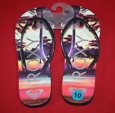 d1483d41232a Roxy flip flop thong sandal melon lll womens size 10 vibrant palm trees  beach