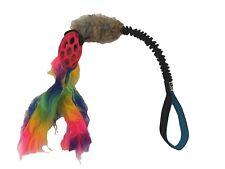 Paws Made Bobbins Bungee Tugger Rabbit Ball Rainbow Tug Dog Toy Agility Flyball