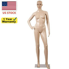689 Realistic Display Head Turns Dress Form With Metal Base Female Mannequin