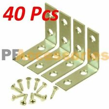 "40 Pcs 2"" inch ""L"" Steel Corner Braces w/ Screws Pack LOT Right Angle Bracket"