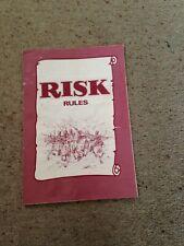 Risk Game, Rules Booklet. Genuine Parker Games Parts.