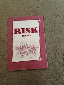 Risk Game, Rules Booklet. Genuine Parker Games Parts.