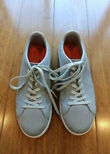 SWIMS Breeze Tennis Knit Shoes Breathable Mens Size US 8 Light Gray & White