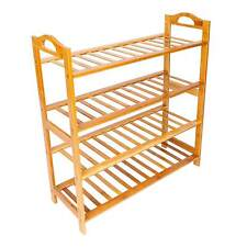 New listing High Quality 4 Tier Wood Bamboo Shelf Storage Concise Shoe Rack Home Furniture_H