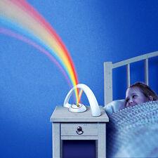 Novelty LED RGB Rainbow Projector Night Light Fairy Colorful Bedroom Decor Lamp