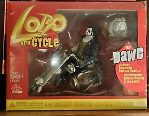 DC comics DC Direct Lobo With Cycle And DAWG 2001