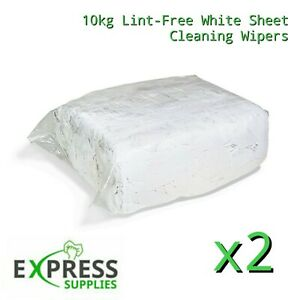20KG Premium White Cotton Lint-Free Cleaning Rags Wipers Wiping Cloths Bundle