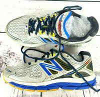 Mens New Balance 860 v4 running training shoes Gray Blue Black size 7 no insoles