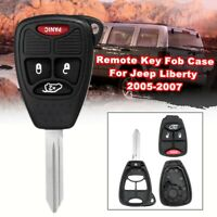 For Jeep Liberty 2005-2007 4 Buttons Replacement Remote Key Fob Case Shell  J