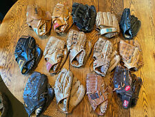 Baseball Mitts & Gloves - leather &  leather palms - mixed Lot - 14 Gloves