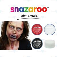 Snazaroo Face Paint Body Paint Zombie Halloween Black White Red Paint Sponge