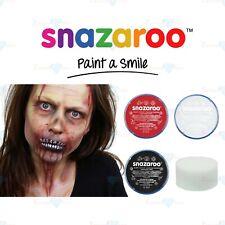 Snazaroo Face Paint Body Paint Zombie Halloween Black White Red Paint Sponge