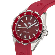 Phoibos Sea Nymph 300M Quartz Women Dive Watch Red PX021E